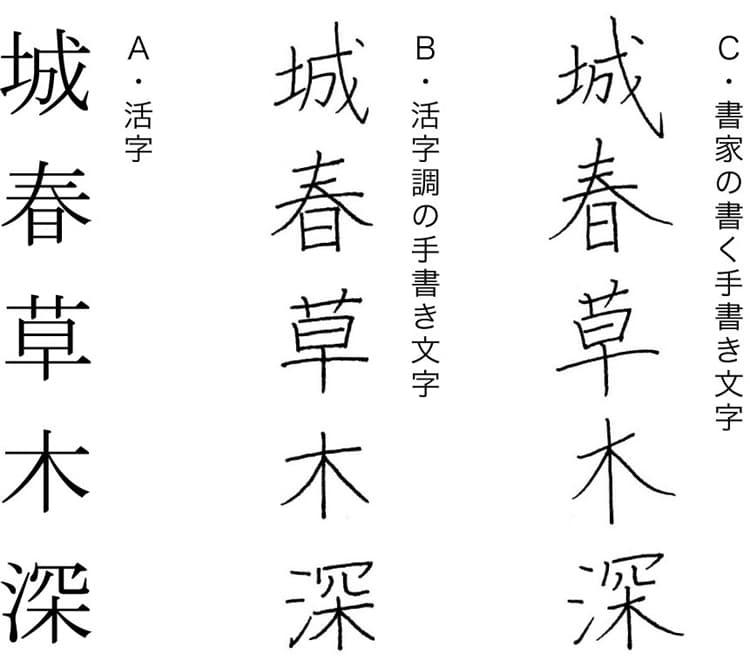 活字と手書き文字1